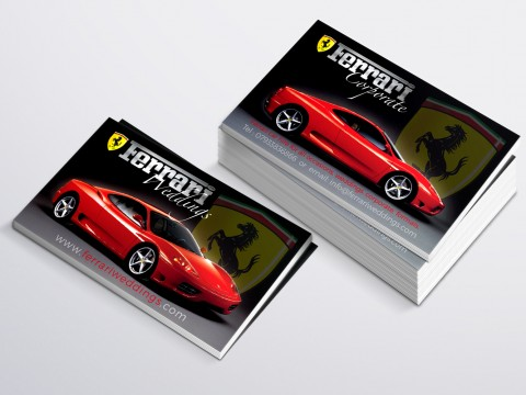 Ferrari Weddings Business Card copy
